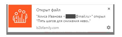 Открыт файл b2b family